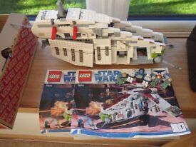 LEgo 7676 Star Wars Republic Gunship Pieces missing