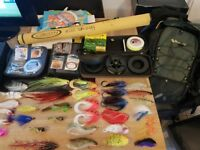 vision big daddy fly rod. reel. flies tackle