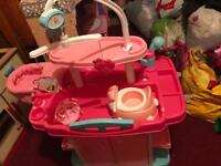 Baby Annabelle wash station