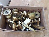 Brass door knobs and handles