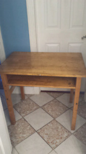 Antique solid wooden school/office desk