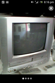 combined Tv and DVD and video