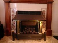 Cast Iron Gas Fireplace with Surround