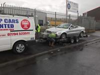 Scrap cars wanted 07794523511 spares or repair none runners damage any cars