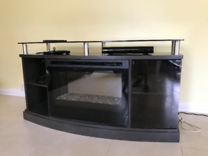 a good tv stand with fireplace insert for sale