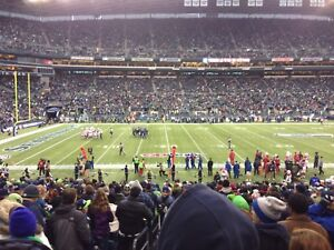 Seahawks vs WASHINGTON REDSKINS lower bowl aisle seats