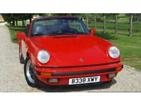 PORSCHE 911 CARRERA 3.2 SPORT CONVERTIBLE FANTASTIC LOW MILEAGE GUARDS RED A REAL EYEFUL