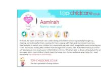 BABYSITTER/CHILDMINDER/NANNY AVAILABLE IMMEDIETLY