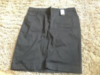 M&S Black denim skirt