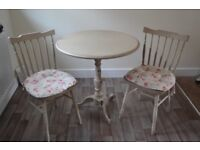 Iron Base Table and Chairs