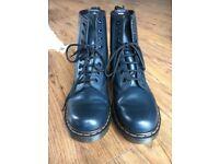 Dr. Marten boots, size 5, dark navy, hardly worn.