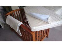 MUST GO - Beautiful Mamas and papas cot bed with very good mattress for sale