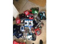 Joblot of rugby gear including baselayers and head guards