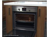 Stanless steel single oven with fan and grill electric can deliver and install