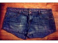 Blue Denim Jean Shorts - Size 18