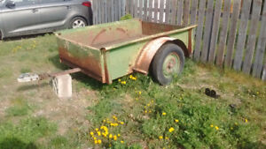 Green Chevy Truck box trailer