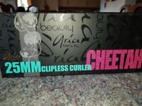 Aria beauty 25MM clipless curler (CHEETAH)