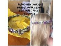 Floral lavender bridal head piece