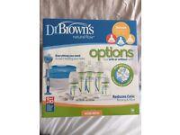 *** Dr Brown's Natural Flow Options Newborn Gift Set - Dr Browns New Born Milk Bottle - Unused ***