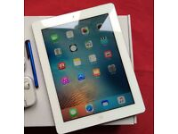 Apple iPad 3 16GB - 3G Data, White & Silver, MINT Condition, Black Smart Four-Fold Case Cover