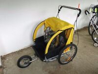 Child Bike Trailer - M-Wave Carry All 3 in 1 Trailer - Yellow