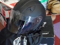 harley davidson open face helmet new