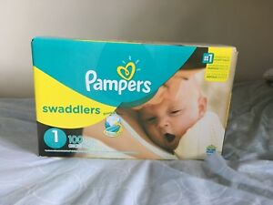 Pampers Swaddlers size one (8-14lb) 100 diapers