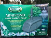 Blagdon minipond water pump 2000 for fountains etc.