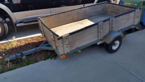 4x8 Single Axle Utility Trailer for Rent