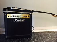 Marshall MG series Amp. 15cdr 250V -50Hz. 45 Watts. Model MG15CDr (guitar in picture not included)