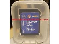 2017 Map SD Card for NAVI 900 / NAVI 600 System for Vauxhall / Opel / Chevrolet