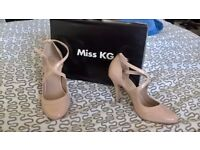 Miss KG heels nude size 5 worn once with box