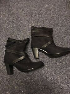 Low suede boots size 12