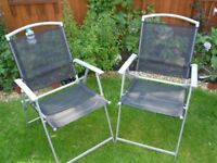 set of six garden chairs very good condition
