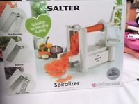 Salter spiralizer used once like new cuts ribbons and noodles 3 settings healthy eating