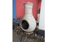 Chimeneas + rain cover for your garden to sell - only used once