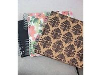 Scrapbooks, great for photos and crafts.