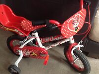 Minnie Mouse toddler bike 12""