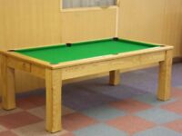 Pool Table Diner / Oak Dining Pool and Snooker Table