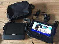PHILIPS TWIN SCREEN PORTABLE DVD PLAYER VGC CAN POST