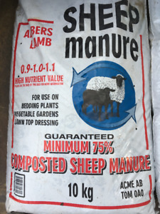 BLOWOUT SALE. 10KG BAGS OF SHEEP MANURE. ONLY $6.00 PER BAG.