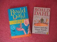 Roald Dahl Paperback Books - BFG / James & The Giant Peach