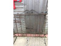 Single wrought iron gates x 2