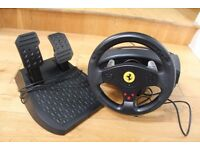 FERRARI GT EXPERIENCE RACING WHEEL COMPATIBLE WITH PS2 PS3 AND PC HARDLY USED