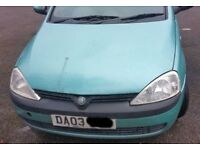 Vauxhall Corsa 1.2 O/S Wing In Green Breaking For Parts