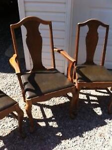 Queen Anne Antique Dining Room Chairs