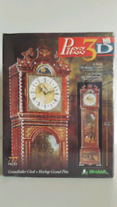 Puzzles 3D A Wrebbit-Grandfather Clock- 777 pieces really works.