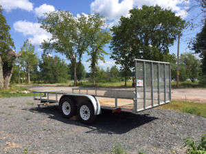 8x16 dual axle galvanized trailer