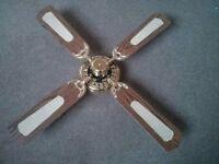 1950's Style Retro 4 Speed Ceiling Fan - 1met Diameter.