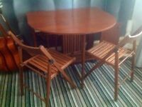 Butterfly Table & 4 Matching Chairs